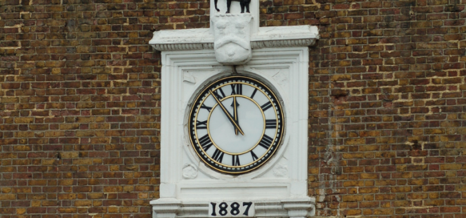 Clock in Maidstone Town Centre